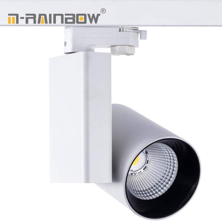 Shopping Mall 40w 60w Led focus cob Spot Light guide rail lighting 3phase 50w Track Light for hair mobile shop