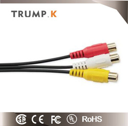 3 Rca To 3 Rca Audio Video Rca Cable For Cctv Cable