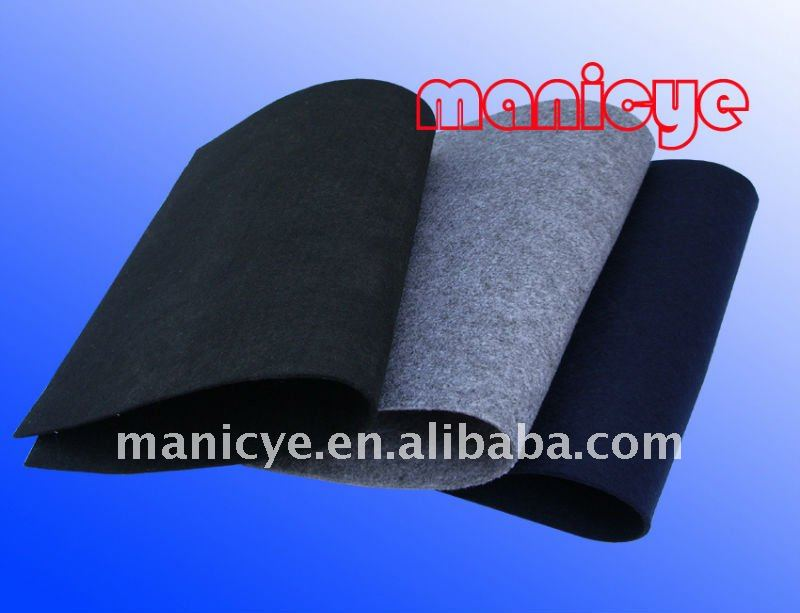 100% Polyester Needle Punched Non-woven Fabric For Making Hat Material