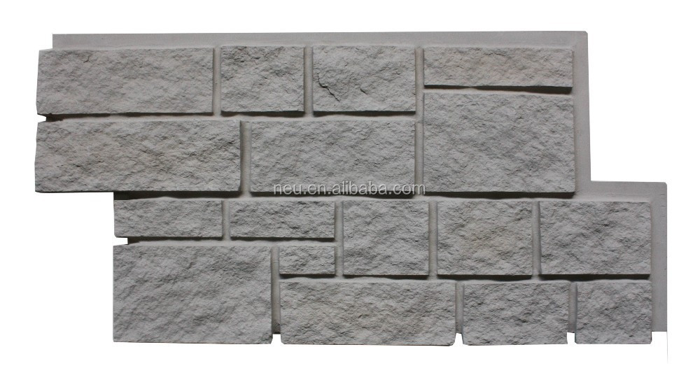 3D faux rock panel, artificial stone stacked flexible stone veneer