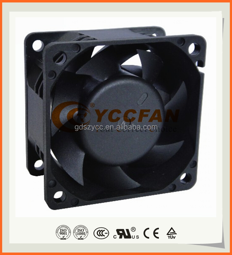 Chinese Supplier offer 12v dc cooling fan 60x60x38 for cooling with CE,RoHS,TUV,UL certificate