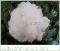 polyester staple fiber 1.2dx25mm solid silicon