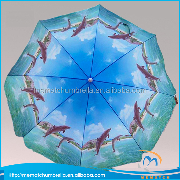 6.5ft Cheap Heat Transfer Printing Swimming Pool Umbrella for Beach