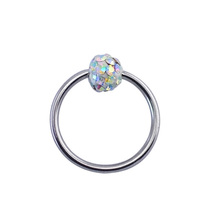 Natural colorful unique circular BCR magnetic nose piercing