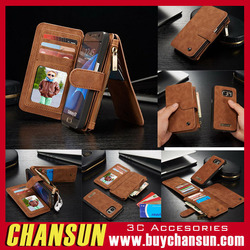 2016 Fashion cowhide wallet cardholder leather case for iphone 6