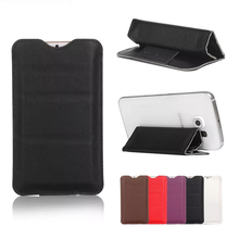 3 Folding Stand Luxury PU Leather Mobile Case ,Straight Plug Holster for 4.7 inch 5.1 inch Phone Protective Sleeve