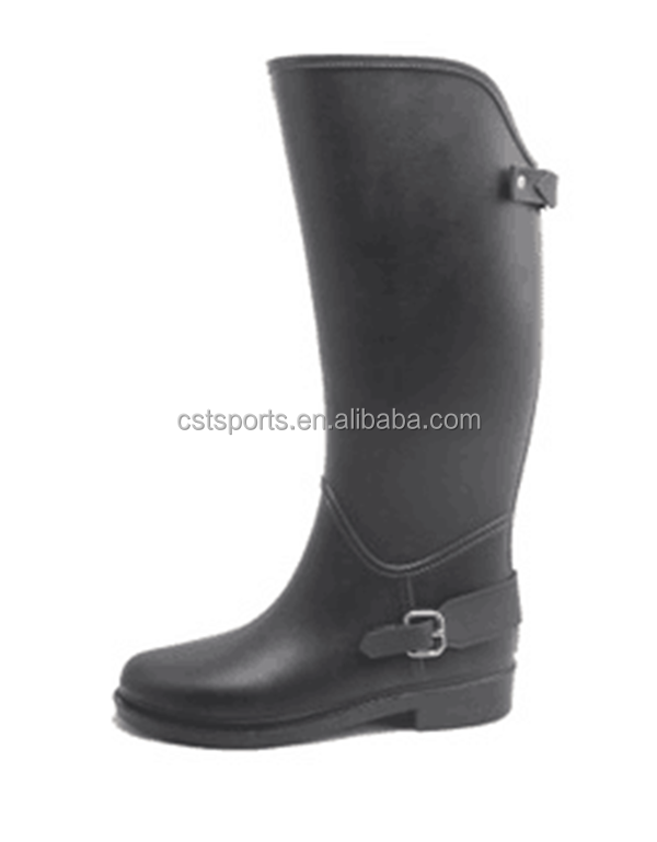 waterproof clear pvc knee high boots for women HR-004