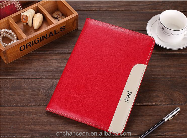 2016 Super slim leather cases for ipad 4 ipad5 Apple tablet leather case cover card wrist holster CO-LTC-324