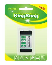 KingKong carbon zinc 9v 6f22 dry cell batteries
