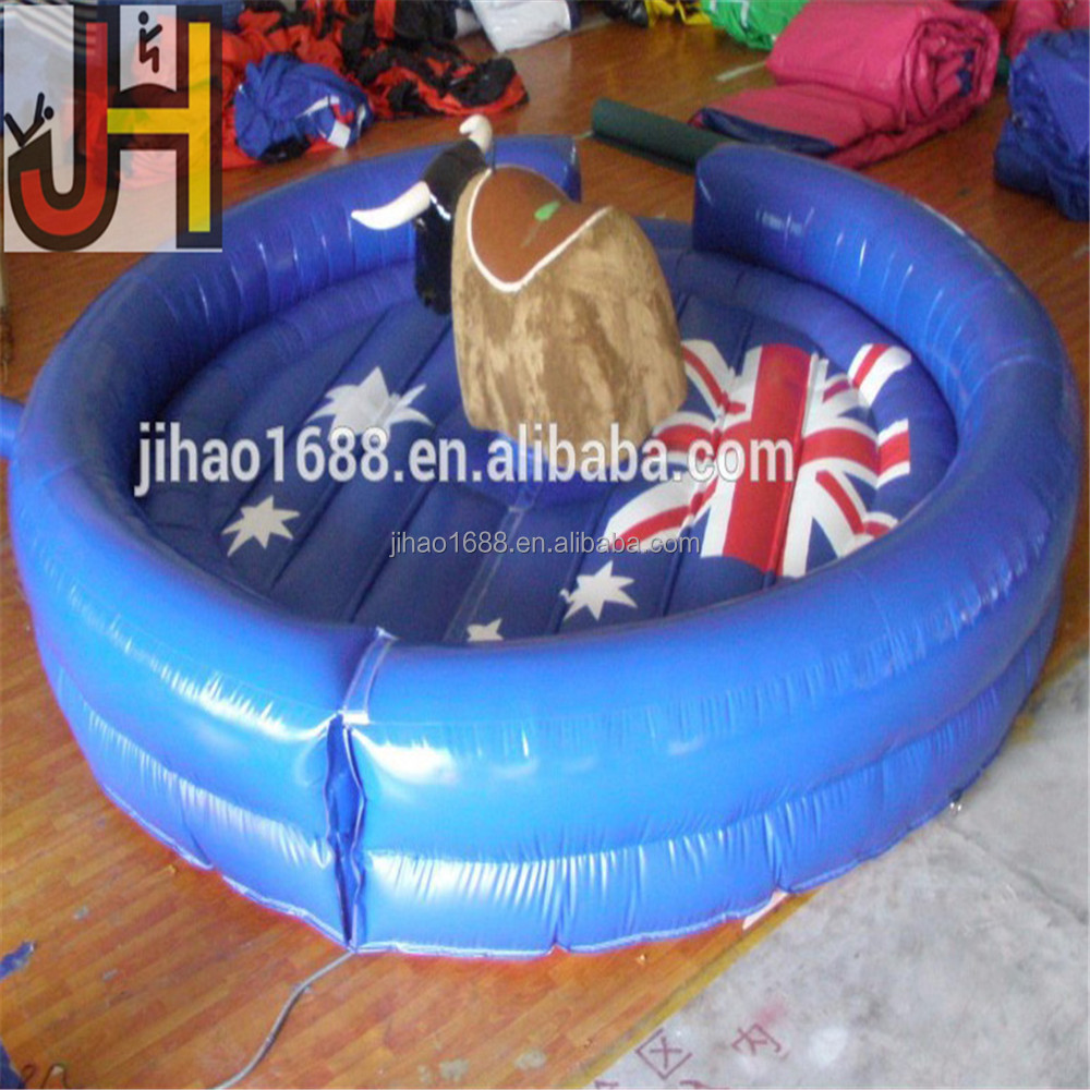 Customized 5m Diameter Safety Game Inflatable Mechanical Australia Bull Riding Toys For Sale