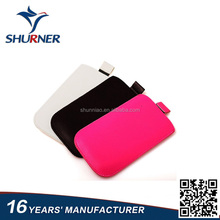 New custom in stock flip-cover leather cover for Iphone,universal leather holders for cellphone