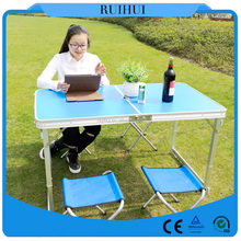 Garden furniture Camping Lightweight Suitcase Aluminum Folding Table For Sale
