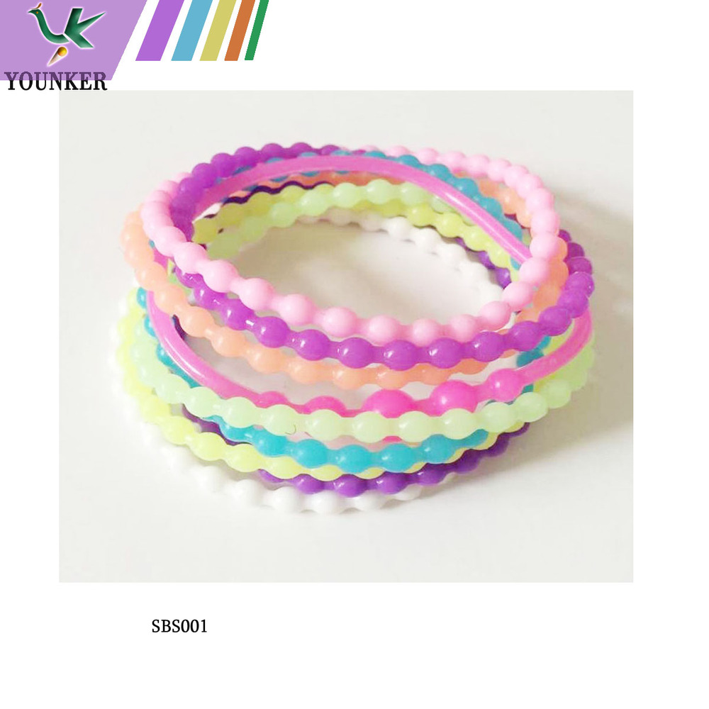DIY assorted bead shape silicon bracelet wristband