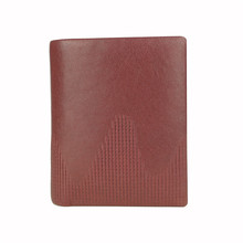 Combined design leather with fabric lady wallet