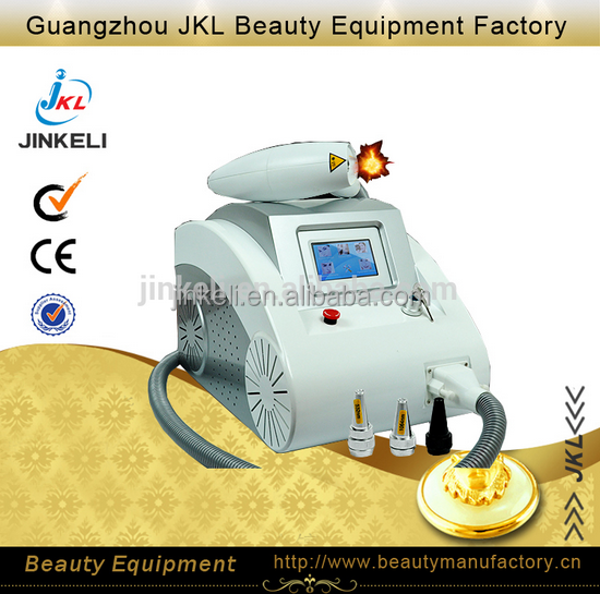 Portable Q Switch ND Yag laser tattoo removal machine CE Approval and pigment removal