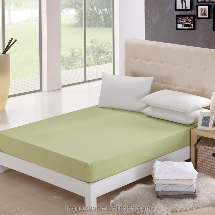 China Supplier Hot selling 100% cotton Queen size elastic fitted bed sheets