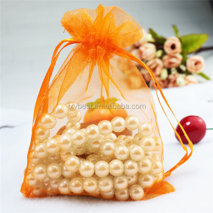 Factory Custom Wedding gift organza bag christmas organza candy bag