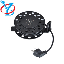 QY-R14R round type retractable cable reel, box type cable reel, round cable reel