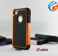 Silicone +PC+TPU Hybrid Combo Impact Cover Rugged Heavy Duty Case for iphone 4 4s