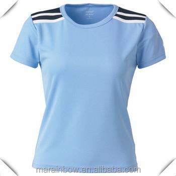 Hot Sale Plain Design Slim Fit Sports T Shirts For Women