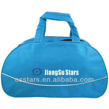 Blue polyester simple gym duffle bag