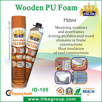 Wooden PU foam spray wooden door fixing