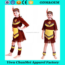 Halloween Carnival Party Children Girl Indian Princess Hunter Cpsplay Costumes