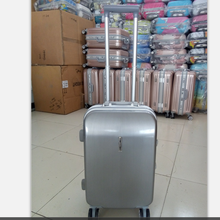 ABS+ PC trolley suitcase with cup holder Aluminium Frame businessman travel trolley luggage cheap airplane boarding case