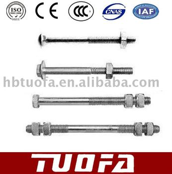 Pole line hardwares / clamp bolt pole top pin/ bolt and nut and washer