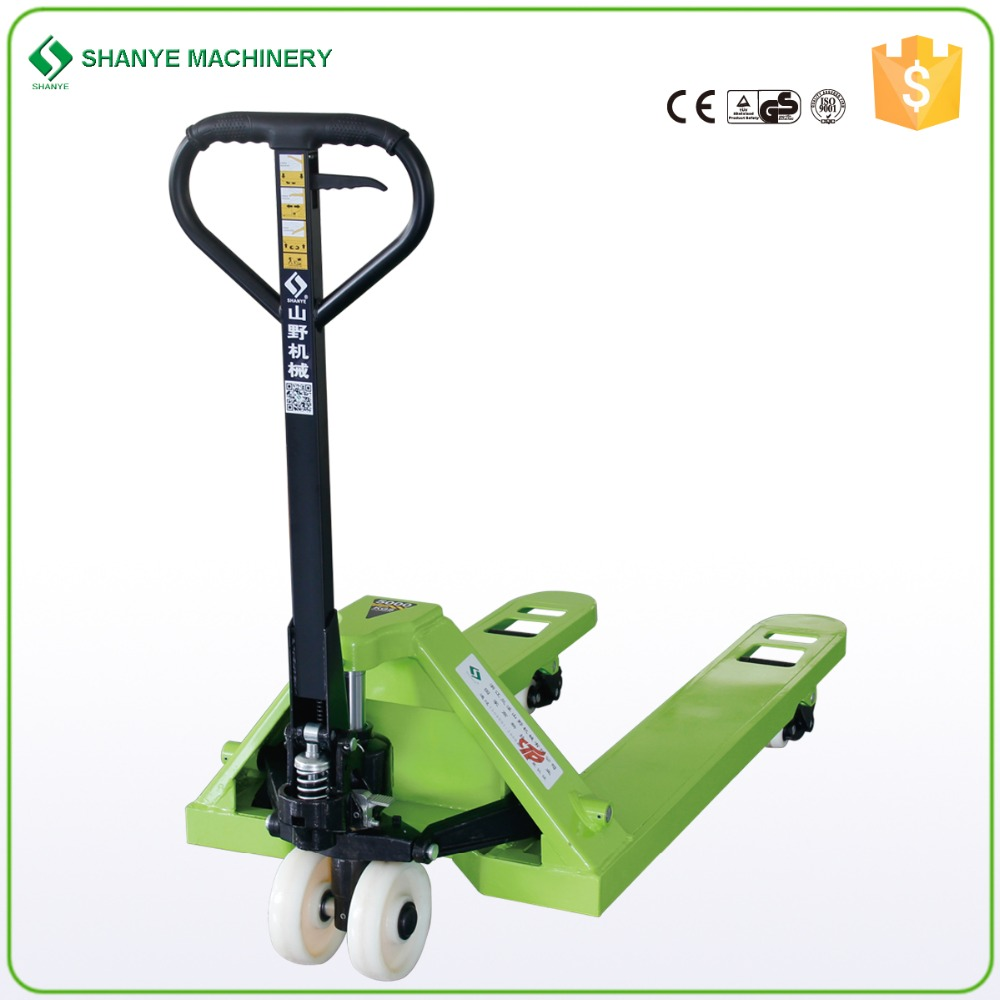 SHANYE 5000kg pallet truck with hand brake
