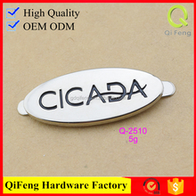 Q-2510 custom logo side release buckles metal private label oval shape