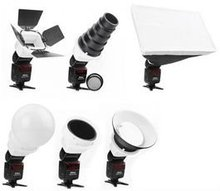 Flashgun Light Control Accessories Kit Portable Studio Honey Comb Reflector Barn Door