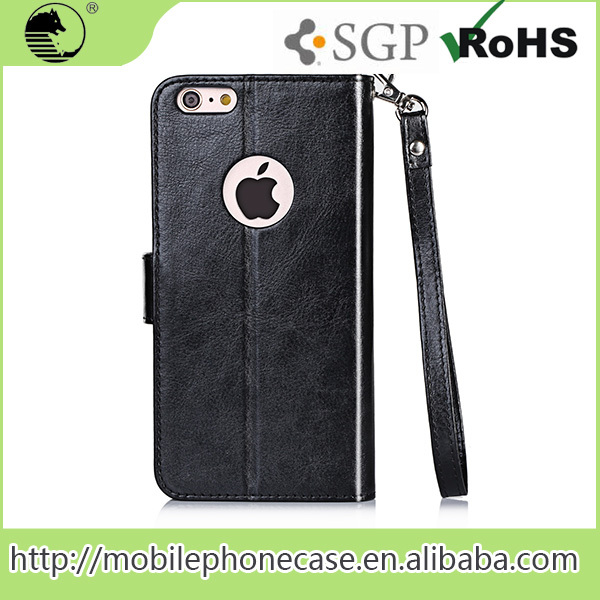 Mobile Phone Accessories Factory In China Pu Leather Case Wallet Stand Cover Case For iPhone 6s