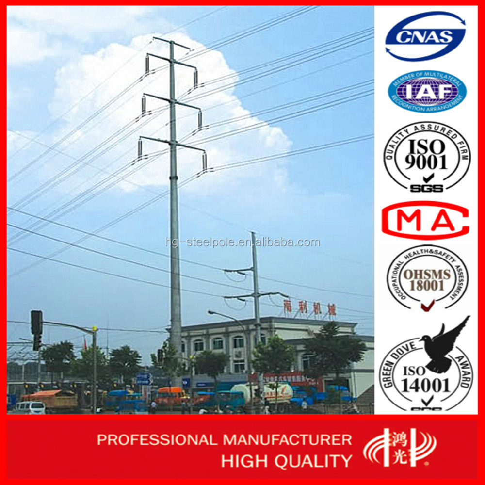 110kv Hot Dip Galvanized Transmission Line Steel Tower