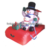 150cm high Christmas inflatable Snowmen Family on Sleigh