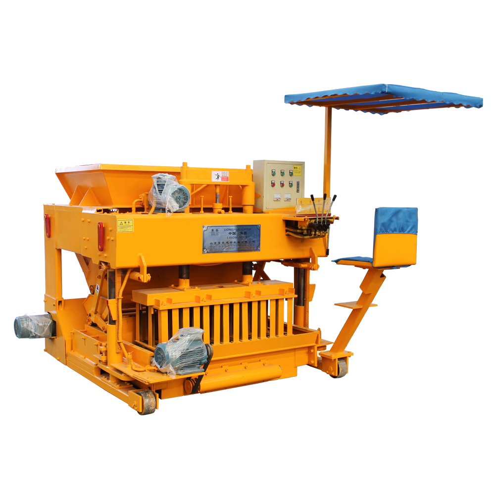 Automatic mobile environmental concrete solid block machine machines shandong