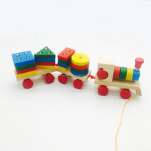 Shape train wooden games assembly car toy for kids