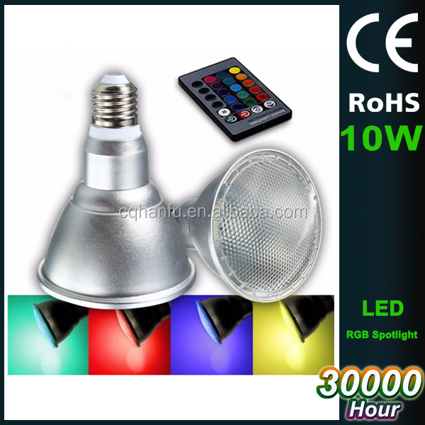 PAR30 10W E27 LED Spot Light Bulbs rgb led indoor lighting spotlight Bulb