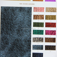 Embossing Faux Leather 100% PU Synthetic Leather pattern Embossing Pu Leather For shoe material