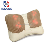 Mini vibrating heating function back massager, self massage back massager