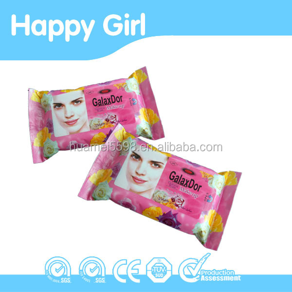 Women Facial Wipes, make up remover wet wipe for lady