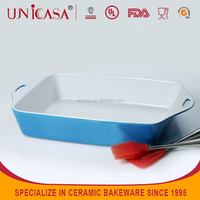 New cooking tools products 2015 eco-friendly rectangle ceramic bakeware with handle,kitchen accessories