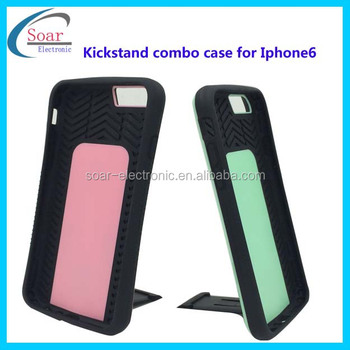 Attractive design competitive price tire pattern kickstand mobile phone case for Iphone 6