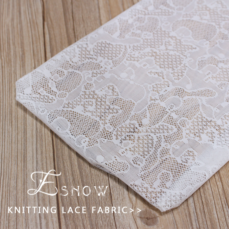 2016 China Wholesaler New Nylon Jacquard Knitting Lace Fabric for Garment
