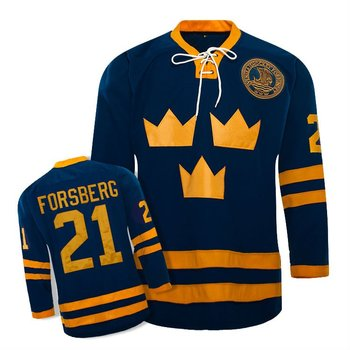 international ice hockey jerseys/Team SWEDEN /21 FORSBERG cheap Ice Hockey Jersey /100% polyester
