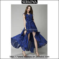 Latest dress designs sleeveless asian prom dresses made in China