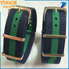 2016 Ballistic nylon fabric watch band blue/green 20mm nato strap Replacement Watch Strap / Band