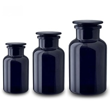 Wholesale 250ml/500ml Dark Violet <strong>Glass</strong> Apothecary <strong>Jar</strong>