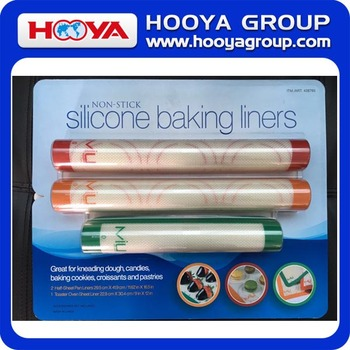 3pcs Non-stick Baking Liners, silicone + glass fiber