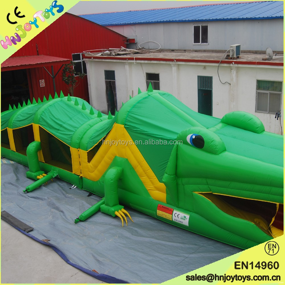 Crocodile theme obstacle course inflatable usa